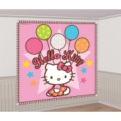 Party-Wanddekoration Hello Kitty