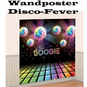 Disco Party, Mottoparty 70er Jahre, Wandposter, Boogie, Partydekoration