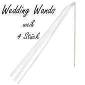 4 Stück Wedding Wands, weiß