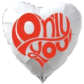 Herzluftballon in Weiß Only You