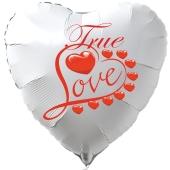 Herzluftballon in Weiß True Love zum Valentinstag
