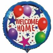 Welcome Home Luftballon aus Folie mit Helium. Willkommen zuhause!
