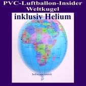 PVC-Folien-Luftballon, Weltkugel, Erde, Insider Ballon, inklusive Helium-Ballongas