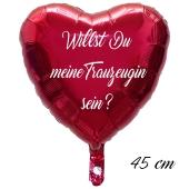 Willst Du meine Trauzeugin sein? Luftballon. 45 cm inklusive Helium