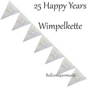 Wimpelkette 25 Happy Years