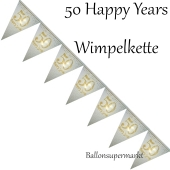 Wimpelkette 50 Happy Years