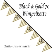 Wimpelkette Black & Gold 70