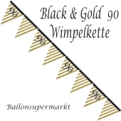 Wimpelkette Black & Gold 90