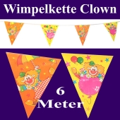 Wimpelkette Clown