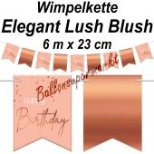 Wimpelkette Elegant Lush Blush Happy Birthday zum Geburtstag
