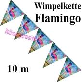 Wimpelkette Flamingo