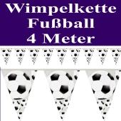 Wimpelkette Fußball, 4 Meter