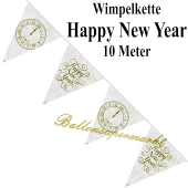 Silvesterdekoration, Wimpelkette Happy New Year