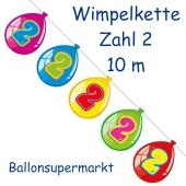 Wimpelkette Balloonshape zum 2. Geburtstag