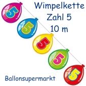 Wimpelkette Balloonshape zum 5. Geburtstag