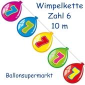 Wimpelkette Balloonshape zum 7. Geburtstag