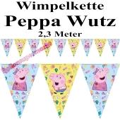 Wimpelkette Peppa Wutz, 2,3 Meter