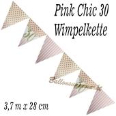 Wimpelkette Pink Chic 30 zum 30. Geburtstag