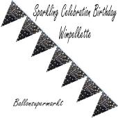 Wimpelkette Sparkling Celebration Birthday zum Geburtstag