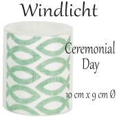 Windlicht Ceremonial Day zur Kommunion und Konfirmation