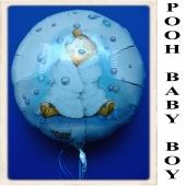 Winnie the Pooh Baby Boy Luftballon aus Folie mit Ballongas Helium zu Geburt und Taufe