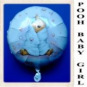 Winnie the Pooh Baby Girl Luftballon aus Folie mit Ballongas Helium zu Geburt und Taufe