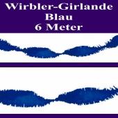 Wirbler Girlande, Papiergirlande, Drehgirlande, Blau, 6 Meter