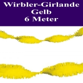 Wirbler Girlande, Papiergirlande, Drehgirlande, Gelb, 6 Meter