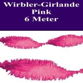 Wirbler Girlande, Papiergirlande, Drehgirlande, Pink, 6 Meter