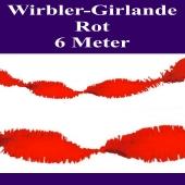 Wirbler Girlande, Papiergirlande, Drehgirlande, Rot, 6 Meter