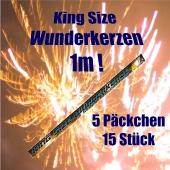 Wunderkerzen King Size, 1 m, 15 Stueck,5 Pakete