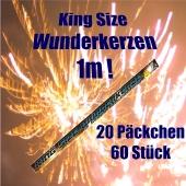 Wunderkerzen King Size, 1 m, 60 Stueck, 20 Pakete