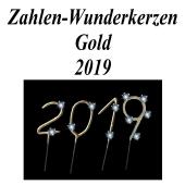 Zahlen-Wunderkerzen Gold Silvester 2019