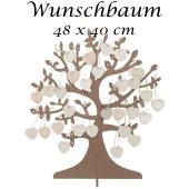 Wuschbaum zur Hochzeit mit Herzen zum Beschriften