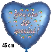 You are so special! Herzluftballon aus Folie, 45 cm, satinblau