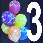 Luftballons Zahl 2, Zahlenballons zum 2. Geburtstag