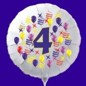 Zahlen-Luftballon aus Folie, Zahl 4, zu Geburtstag und Jubiläum