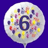 Luftballon aus Folie zum 6. Geburtstag, Zahl 6
