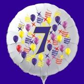 Zahlen-Luftballon aus Folie, Zahl 7, zu Geburtstag und Jubiläum