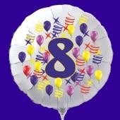 Zahlen-Luftballon aus Folie, Zahl 8, zu Geburtstag und Jubiläum