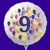 Zahlen-Luftballon aus Folie, Zahl 9, zu Geburtstag und Jubiläum