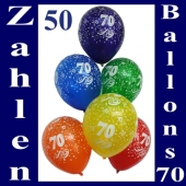 """Luftballons, Latexballons 50 Stück """"70"""""""