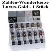 Zahlen-Wunderkerze Gold, 1 Stück