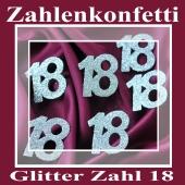 Zahlendekoration Glitter-Konfetti, Zahl 18
