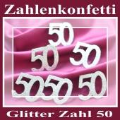 Zahlendekoration Glitter-Konfetti, Zahl 50