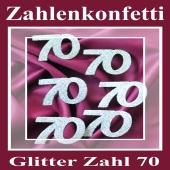 Zahlendekoration Glitter-Konfetti, Zahl 70
