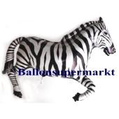 Zebra Luftballon aus Folie mit Ballongas-Helium