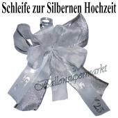 Zierschleife zur Silbernen Hochzeit