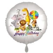 Zootiere Luftballon zum 1. Geburtstag