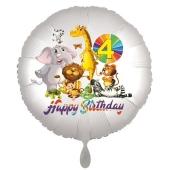 Zootiere Luftballon zum 4. Geburtstag
